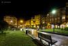 Plaza Alfonso X El Sabio-Pola de Lena (mercenario.one) Tags: lapola lena reyes navidad plaza fuente nocturna