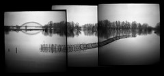 Field, Flood and Art (Chuck Baker) Tags: alternative analog architecture blackandwhite building blackwhite believe camera darkroom diana eastman field film farm gelderland holland nijmegen kodak lomography lomo life love lake light monochrome nederland netherlands notechography nature outdoor photography photograph plastic peace panorama rural surreal toy tmax tree viewfinder z