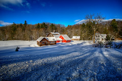 Nestled for the Winter (downstreamer) Tags: leelanau m22 samyang12mm sleepingbear sleepingbearnationallakeshore farm leland outbuilding winter cedar michigan unitedstates us