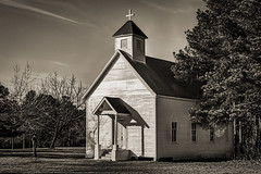 Sacred Heart Church (Mike Schaffner) Tags: bw blackwhite blackandwhite chapel church monochrome old park railroad railway ruskstatepark sacredheartchurch statepark texasstaterailroad tsr rusk texas unitedstates us