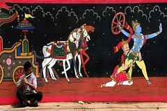 The lure of music (chinmaymohapatra) Tags: people flute krishna arjun mahabharat art oldtown downtown bhubaneswar odisha india music