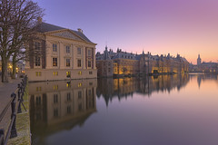 The Hague Pastel Sunset (Rob Kints (Robk1964)) Tags: denhaag mauritshuis binnenhof buildings government hetplein hofvijver innercourt nederland night pond reflections thehague thenetherlands
