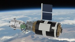 Spylab (John Moffatt) Tags: lego render ldd digital space station capsule skylab but spy orbit