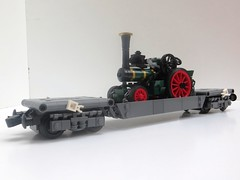 Finally a load for my well wagon (ScotNick1) Tags: lego fiery elias traction engine uk united kingdom steam trector 1927 william foster 8 eight eightton ton trevor ttte thomas friends tank road vehicle green dark replicate replica model scale lgauge