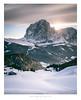 Sasso Lungo, Alto Adige, Italy (Nils Leonhardt) Tags: landschaft landscape berg mountain snow schnee himmel sky longexposure exposure nikon nikond810 sigmaart sigmalens sigma25105mm leefilters leebigstopper dolomites valgardena südtirol altoadige sunset sonnenuntergang