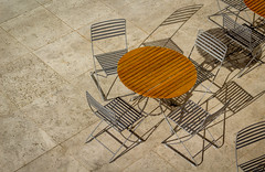 chairs, shadows, and lines (Robert Borden) Tags: table chairs lines shadows texture pattern thegettycenter thegettymuseum getty losangeles la socal cali california west usa northamerica canon canonrebel canonphotography