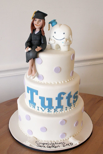 Graduation Tuft's Tiered Cake