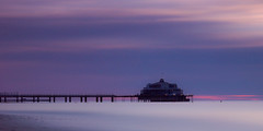 Pier Blankenberge (Ringo_C) Tags: sunset longexposure pier coast sea bluehour kust zee belgium blankenberge nikon d3300beachlongexposureseascapesunset