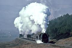 Thunderbirds are go (Bingley Hall) Tags: rail railway railroad transport train transportation trainspotting locomotive engine steam asia china nancha qj 2102 banker qj2554