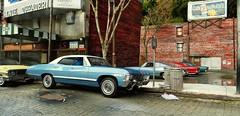 Movie Theater Parking Lot 5 (gpholtz) Tags: diorama miniatures 118 diecast 1967 impala chevrolet