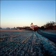 L Slågarp - Fuji Astia 100F (magnus.joensson) Tags: sweden swedish skåne november church countryside rolleiflex 35 6x6 medium format fuji astia 100f exp zeiss tessar 75mm epson v800 scan