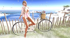 Waiting for Spring (NefrytkaResident) Tags: ncore davidcooper eleganceboutique eb elegantia elegance slink maitreya belleza catwa bento sl secondlife firestrom shoes cosmopolitan event women girl spring birds flowers bike nefrytka hair