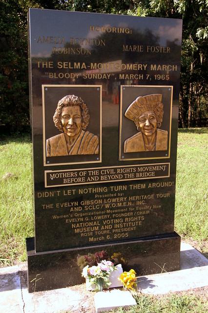 Amelia Boynton Robinson & Marie Foster - Civil Rights Memorial Park, Selma, AL