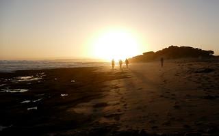 Heading towards the sunset...