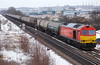 As If Things Couldn't Get Any Worse.... (marcus.45111) Tags: snowdiversions snow dbc class60 60019 fuel tankers thornhill exbritishrail colourred ukbuilt flickr flickruk canoncameras canondslr canon5dmk11 canonrailwayphotography 2018