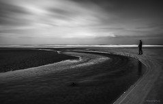 Dänemark - Römö - Landsend (Pana53) Tags: photographedbypana53 pana53 naturundlandschaftsfotografie naturfoto naturfotografie longexposure insel island langzeitbelichtung dänemark danmark juetland person nordseeküste nordsee wattenmeer sandstrand beach nikon nikond810 meer ozean sand