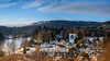 downtown Dunkeld from Hillhead (grahamrobb888) Tags: dunkeld lowsun panorama woodland filters d800 nikond800 nikon nikkor river rivertay water winter woods wideangle village cathedral bluesky snow highlands hills valley