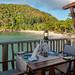 Restaurant am Strand, Praslin Seychellen