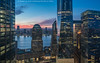 Hudson Sunset (20180120-DSC07875) (Michael.Lee.Pics.NYC) Tags: newyork aerial onewtc wtc worldtradecenter brookfieldplace hudsonriver jerseycity sunset 3wtc hiltonmillenium hotelwithview 7wtc architecture cityscape sony a7rm2 fe24105mmf4g