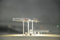 Diesel (BKHagar *Kim*) Tags: bkhagar fog foggy trip diesel gasstation pumps arkansas ar