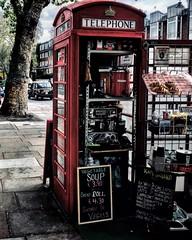(yeezusr96) Tags: coffee street england red box telephone uk london