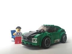 Piet's Green Car Front (Janultra) Tags: smile minifigure stickerbomb lego moc green 6 wide piet floating car bricks folding hamburg janultra chair rims führer 2018 stein hanse minifigures norden baterang