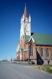 Kodachrome Slide of St. Mary in the Mountains Catholic Church, Virginia City, 1980