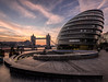 The south bank show (grbush) Tags: london thames southbank sunrise dawn daybreak londoncityhall towerbridge cityscape redsky river southwark architecture thescoop sonya7 tokinaatx116prodxaf1116mmf28