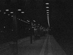 grainy night platform (Mister.Marken) Tags: nikonf4 kodakp3200tmax expiredfilm photoshopfix