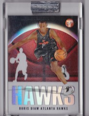 2003-04 Topps Pristine Refractors #161 Boris Diaw uncirculated RC #'d 1070:1999 1 (hoosierdealer) Tags: 200304 topps pristine basketball refractor serial numbered d uncirculated rookie rc ry