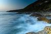 Dawn Seascape (Merrillie) Tags: daybreak sunrise headland rockplatform newsouthwales rocks pearlbeach nsw ocean morning sea earlymorning landscape waterscape sky seascape dawn nature water australia