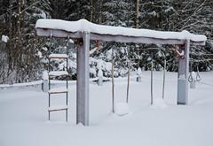Les enfants jouent ... (sosivov) Tags: sweden snow landscape winter white playground forest