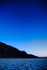 Orion Rises (Graeme Tozer) Tags: california usa desert saltflats badwater sky night stars deathvalley orion deathvalleynationalpark