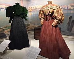 Victorian Dresses, 1895 (Foxy Belle) Tags: museum costume 1800s clothing victorian era dress fashion
