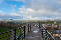 Blustery Showers (scottprice16) Tags: england lancashire clitheroe clitheroecastle keep norman historical view landscape ribblevalley fells hilss longridgefell west weather cloud showers snow winter january 2018 sonyrx100markiii