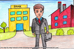 Businessmen with Briefcase Scene (drawingtutorials101.com) Tags: businessmen with briefcase scene business man men color pencil pencils sketching sketch sketches drawing drawings draw speeddrawing sketchs coloring colors how