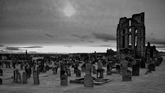 Priory Graveyard (WISEBUYS21) Tags: tynemouth priory north tyneside graveyard wisebuys21 tyne black white newcastle upon united castle cliff top grave graves