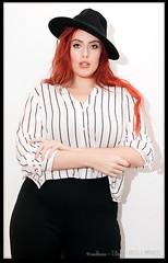 Redhead in a Black Hat (zweiblumen) Tags: arabella model belper derbyshire england uk redhead fedora canoneos50d canonef35mmf2 canonspeedlite430exii zweiblumen