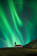 Dance of the spirits (FredConcha) Tags: aurora northernlights iceland vik landscape nature stars night fredconcha 1424 d800 church danceofthespirits 2015 voyage
