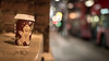 Lipstick On Your Collar (Sean Batten) Tags: drink cup costa london england uk night nikon d800 bokeh gingerbreadman bloomsbury wall outoffocus blur 50mm