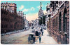 Oxford - The High Prior to 1905 (pepandtim) Tags: postcard old early nostalgia nostalgic oxford high queens college hansom cab 03061905 34rdt35 joseph architect york safety speed centre gravity cornering cabriolet carriage horse coach 1908 traffic taximeter car 1920 motor vehicle