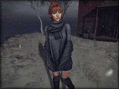 The earth laughs beneath my heavy feet (☾☾Ṁṣ Ṃȭłłỳ ☽☽) Tags: secondlife hot cute sexy mesh beauty fashion cutie portrait sweet catya catwa lara maitreya me selfie alone justme snow winter sold jumper redhead ginger