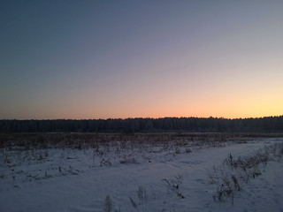 sunset in January