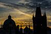 Prague Skyline (Patty Bauchman) Tags: charlesbridge czechrepublic europe prague sunrise cityscape silhouette landscape
