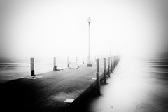 Jetty (Explored Feb 18) (another_scotsman) Tags: chicago jetty lake ice fog mono landscape