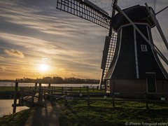 We had a beautiful sunset in the Netherlands today (iPhone Fotograaf) Tags: clouds evening landscape sun sunset groningen water dutch sky iphone8plus windmill