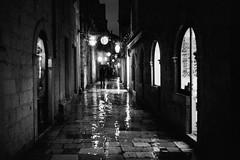 Reflections in the Rain (Koprek) Tags: leicam2summaron35mm2 kodaktrix 1600 film dubrovnik cold rain wind decembar 2017