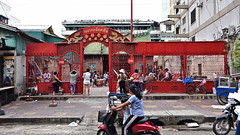 After School (CAMBODIA) (ID Hearn Mackinnon) Tags: band practice after school phnom penh cambodia cambodian khmer south east asia asian 2017 culture city urban people music musical red gate wall entranceway entrance way gateway