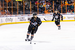 """Kansas City Mavericks vs. Cincinnati Cyclones, February 2, 2018, Silverstein Eye Centers Arena, Independence, Missouri.  Photo: © John Howe / Howe Creative Photography, all rights reserved 2018. • <a style=""""font-size:0.8em;"""" href=""""http://www.flickr.com/photos/134016632@N02/39407207534/"""" target=""""_blank"""">View on Flickr</a>"""