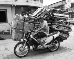 Cardboard... (Beegee49) Tags: cardboard scrap motorcycle street bacolod city philippines